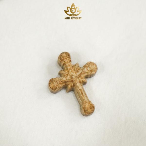 Mân Côi, Thánh Giá GỖ TRẦM HƯƠNG TỰ NHIÊN, Size 10 và 12mm, có thể làm vòng tay, vòng cổ - mang lại may mắn