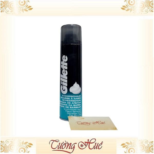 Bọt cạo râu Gillette dành cho da nhạy cảm- 300ml - Xanh Biển
