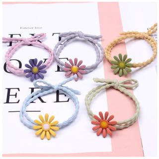 Set 5 Dây cột tóc thiết kế đính hoa cúc dễ thương dành cho nư thumbnail
