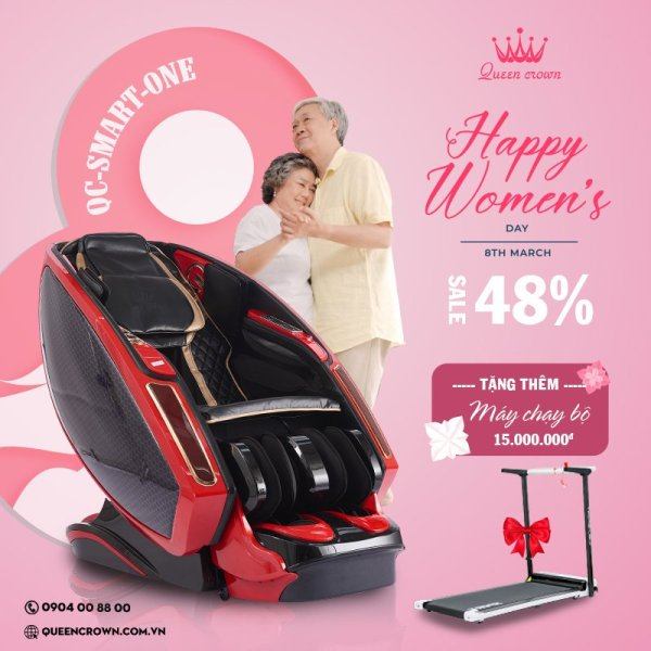 Ghế massage Queen Crown QC Smart One