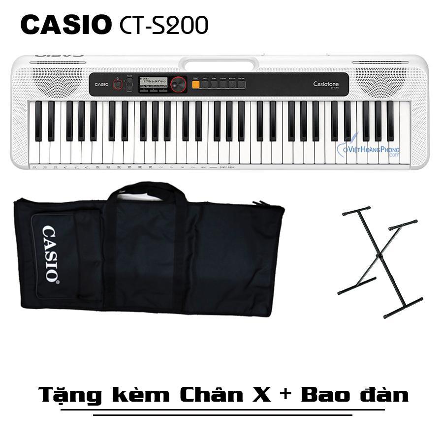 Đàn Organ Casio Casiotone CT-S200 (Đủ 3 màu) Kèm Adapter + Giá nhạc + Chân X + Bao đàn - Việt Hoàng Phong