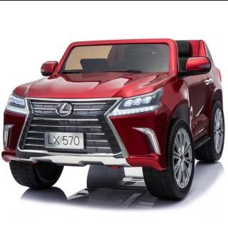 Ô tô xe điện điều khiển tự lái LEXUS 570 bánh hơi ghế da cao cấp sơn quây (Đỏ-Trắng-Xanh-Đen) thumbnail