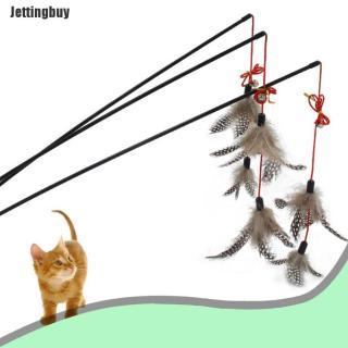 Jettingbuy Đồ ChơI Mèo Con Dây Thép Mới, Thanh Lông Vũ, Chuông Trêu Ghẹo Gậy Treo Lủng Lẳng Chơi Đùa Cho Thú Cưng thumbnail