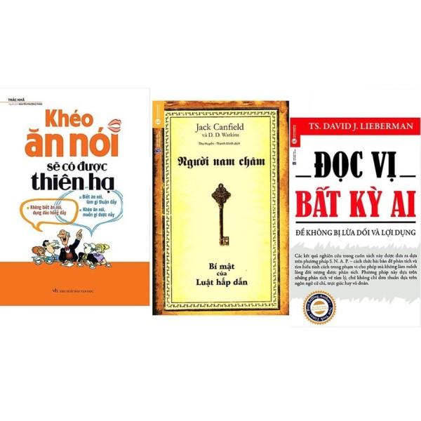 Sách -Combo Khéo Ăn Nói Sẽ Có Được Thiên Hạ + Người Nam Châm + Đọc Vị Bất Kỳ Ai