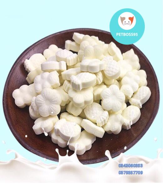 Lẻ 5v- 10v Kẹo sữa dê bổ sung canxi cho chó mèo hamster - Kẹo thưởng cho chó mèo