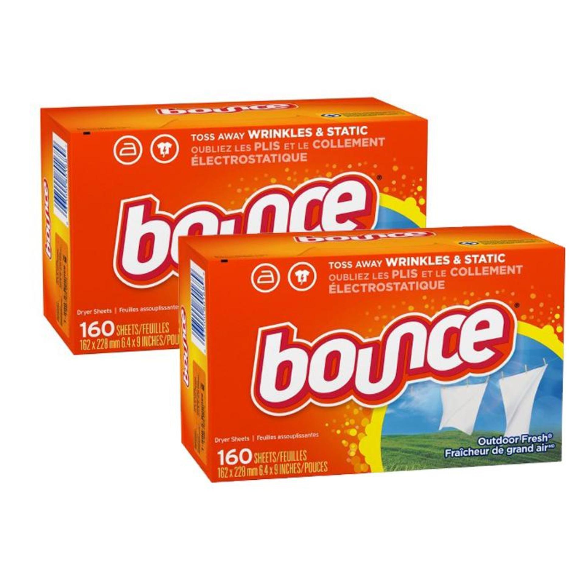 Bộ 2 Giấy Thơm Quần áo Bounce Outdoor Fresh 160 Tờ X2 Khuyến Mãi Sốc