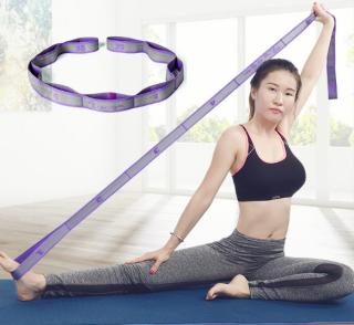 Dây Tập Yoga,Dây Hỗ Trợ Tập Gym Chia 9 Đốt Co Giãn Kích Thước 105 x 3.6cm) thumbnail