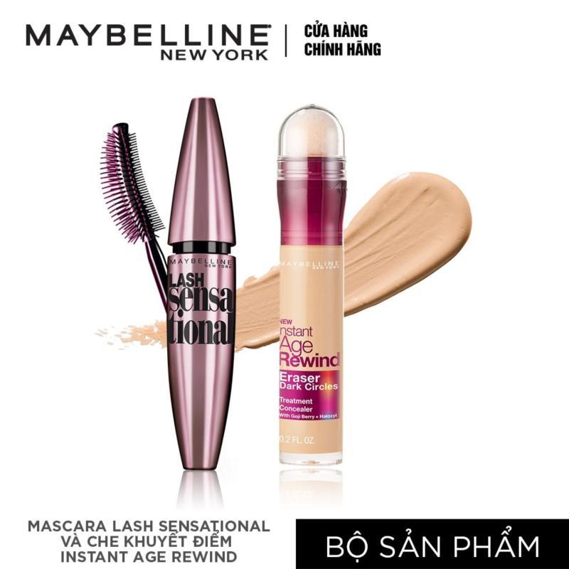Bộ đôi Mascara dài & tơi mi Lash sensational và Bút che khuyết điểm instant Age Rewind Maybelline tông tự nhiên tốt nhất