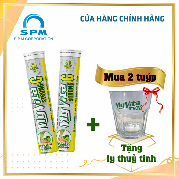 Viên sủi MyVita Strong C (Sả - Gừng – Chanh) 20 viên/hộp - Bổ sung Vitamin C - Tăng cường đề kháng