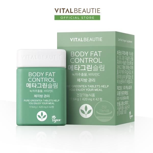 Viên uống giảm hấp thụ mỡ Vital Beautie Meta Green Slim (42 Viên) cao cấp