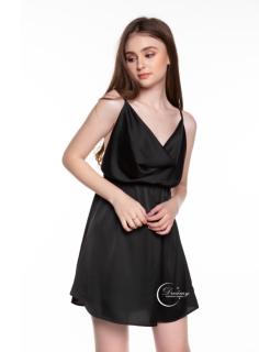 Dreamy VX06 Váy Ngủ Cổ Đổ Hai Dây Màu Đen Cuốn Hút Sexy Thương Hiệu Dreamy. thumbnail