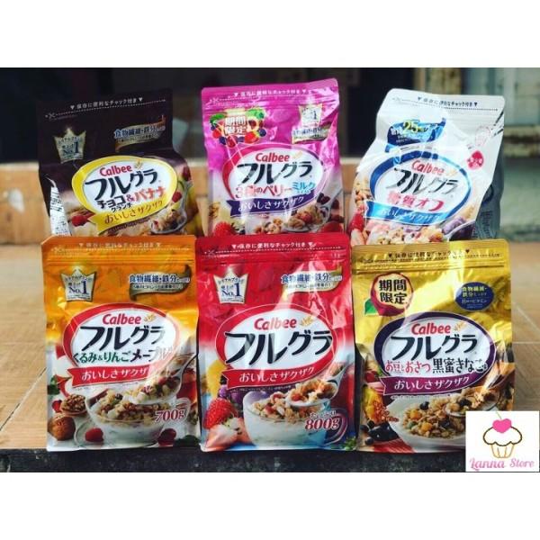 [HSD 8/2021] Ngũ cốc trái cây Calbee đủ 12 vị ngon tuyệt - Nhật Bản