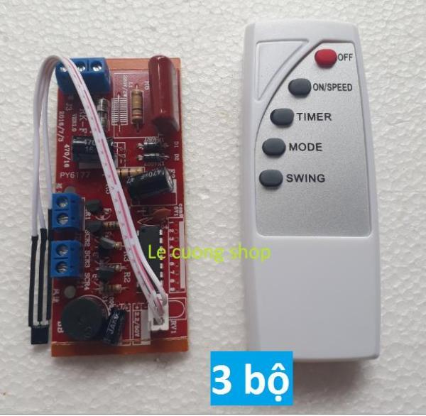 Combo 3 bộ điều khiển từ xa cho quạt ,cho quạt bàn, quạt treo tường, quạt cây...biến quạt thường thành quạt điều khiển từ xa, mạch quạt điều khiển từ xa