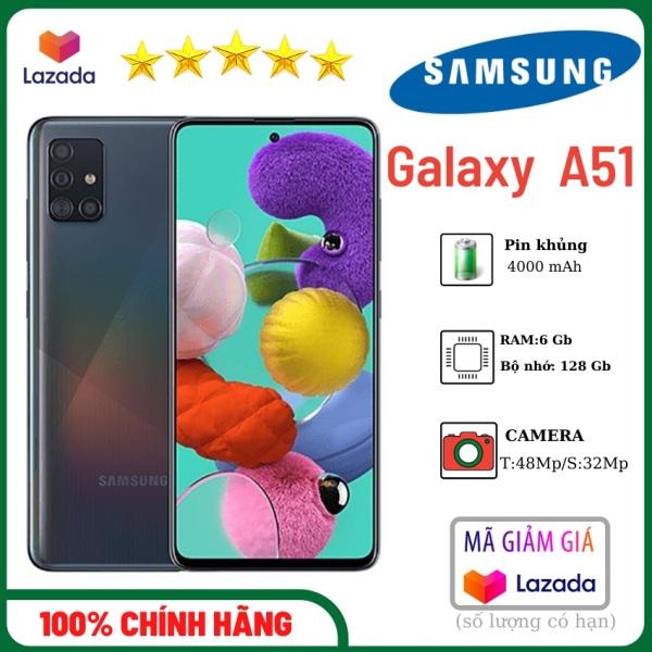 [LIKE NEW] Điện thoại Samsung Galaxy A51 điện thoại Ram 6Gb bộ nhớ 128GB Camera sau 48Mp, camera trước 32Mp - Màn hình vô cực Super AMOLED 6.5 inch - Pin 4000mAh, có sạc nhanh - Hàng Chính Hãng