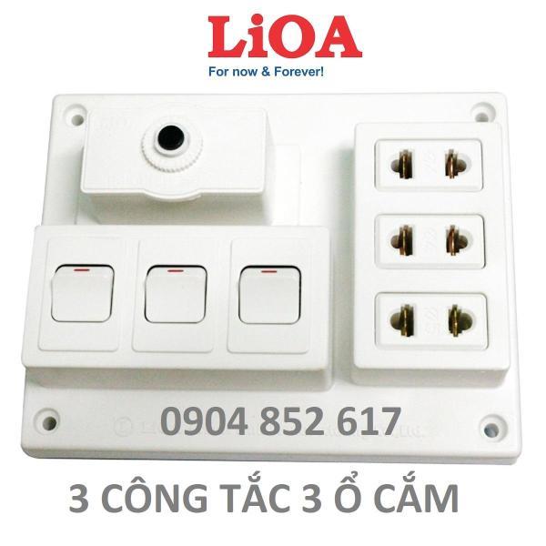 Bảng giá Bảng Điện Nổi LiOA 15A Có 3 Ổ Cắm + 2/3 Công Tắc