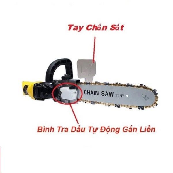 Bộ Lam Xích Lưỡi Cưa Gắn Máy Mài. Chain Saw. Trục 10 mm