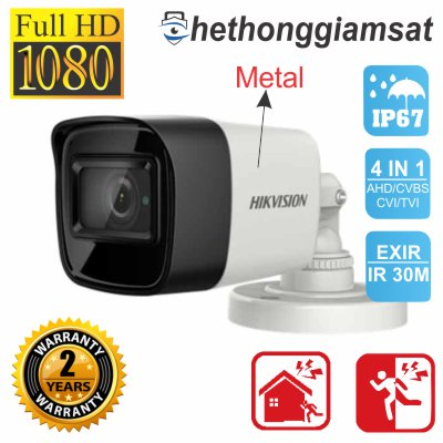 Camera HDTVI Thân Trụ HIKVISION DS-2CE16D0T-ITF 2MP, chính hãng, bảo hành 24 tháng