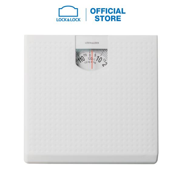 Cân sức khỏe Lock&Lock dùng trong gia đình ENC536WHT - 120kg - Màu trắng nhập khẩu