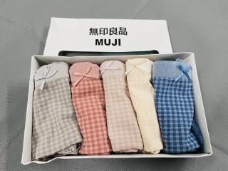 Hộp 5 quần lót cotton kháng khuẩn caro Muji - hàng chuẩn loại 1 thumbnail