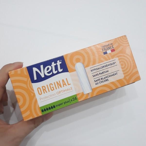 Tampon NETT - không cần đẩy - 6 giọt - ngày siêu nhiều - hàng nội địa Pháp