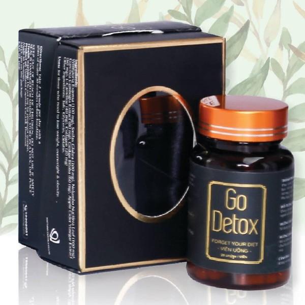 Viên Uống Giảm Cân GoDetox Chính Hãng (Tách lẻ Combo Go Detox)  + Tặng kèm thước dây cao cấp