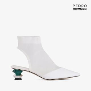 PEDRO - Giày boots nữ mũi nhọn Ankle Mesh Sock PW1-16480002-03 thumbnail