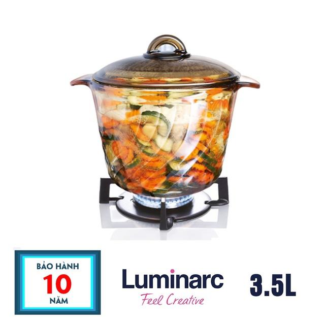 Deal Ưu Đãi [Có Video] Nồi Thủy Tinh Luminarc Amberline Trianon Eclipse, 3.5L D2795-  Bảo Hành 10 Năm