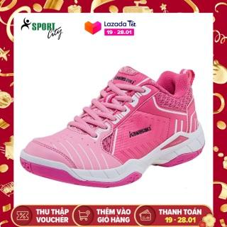 Giày cầu lông Kawasaki K162 Pink êm ái, thoáng khí, hàng có sẵn, dành cho nữ, màu hồng, đủ size - Giày bóng chuyền nữ - Giày đánh cầu lông - shop sportcity thumbnail