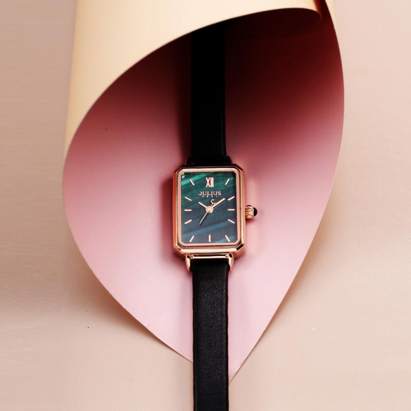 Đồng hồ nữ Julius JA-1155 dây da nhiều màu