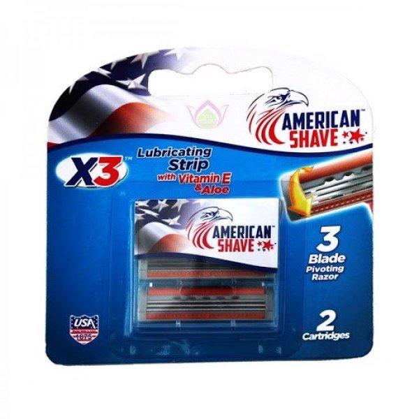 Lưỡi Dao Cạo Râu American Shave Alo VitE 2 Cái