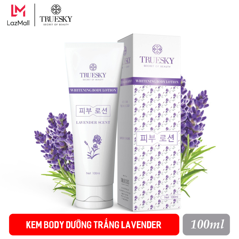 Kem body dưỡng trắng Truesky dạng lotion hương nước hoa Pháp 100ml - Whitening Body Lotion
