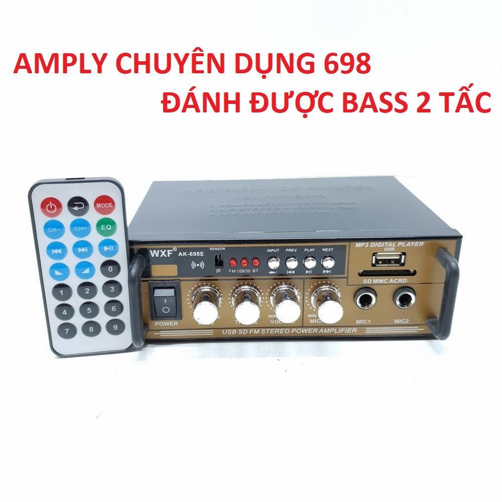 Mã Khuyến Mãi Amply Mini Karaoke WXF AK-698E 12V/220V USB-SD-AUX