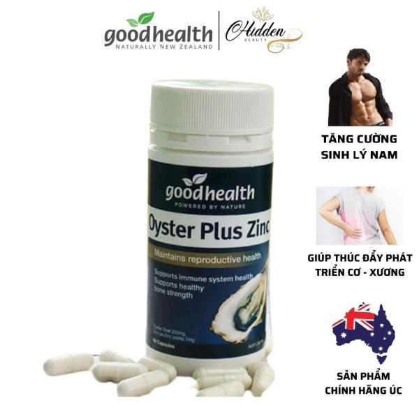 Tinh chất hàu New Zealand Good Health Oyster Plus ZinC chắc sương khớp,tăng cường sinh lý nam giới, hộp 60 viên - Hidden Beauty