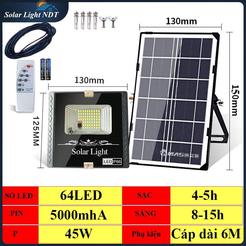 [HẠ GIÁ] Đèn năng lượng mặt trời 45W (64LED) - 20W công suất thực có Điều Khiển