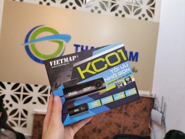 (Tặng thẻ 128G) Camera hành trình Vietmap KC01 Pro Cảnh báo giao thông bằng giọng nói tiếng việt, ghi hình trước sau độ phân giải 2k, WIFI