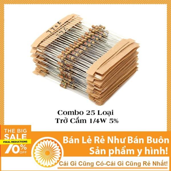 Bảng giá Combo 100 Loại Trở Cắm 0.25w Giá Rẻ-Linh Kiện Điện Tử TuHu - 50 Loại Phong Vũ