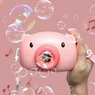 Máy chụp ảnh thổi bong bóng phát nhạc cực dễ thương cho bé thumbnail