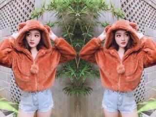 (ẢNH THẬT) Áo khoác lông nữ, áo khoác mùa đông siêu ấm, lông dày mịn 2 lớp cũ tai gấu cute, thời trang 1993 thumbnail