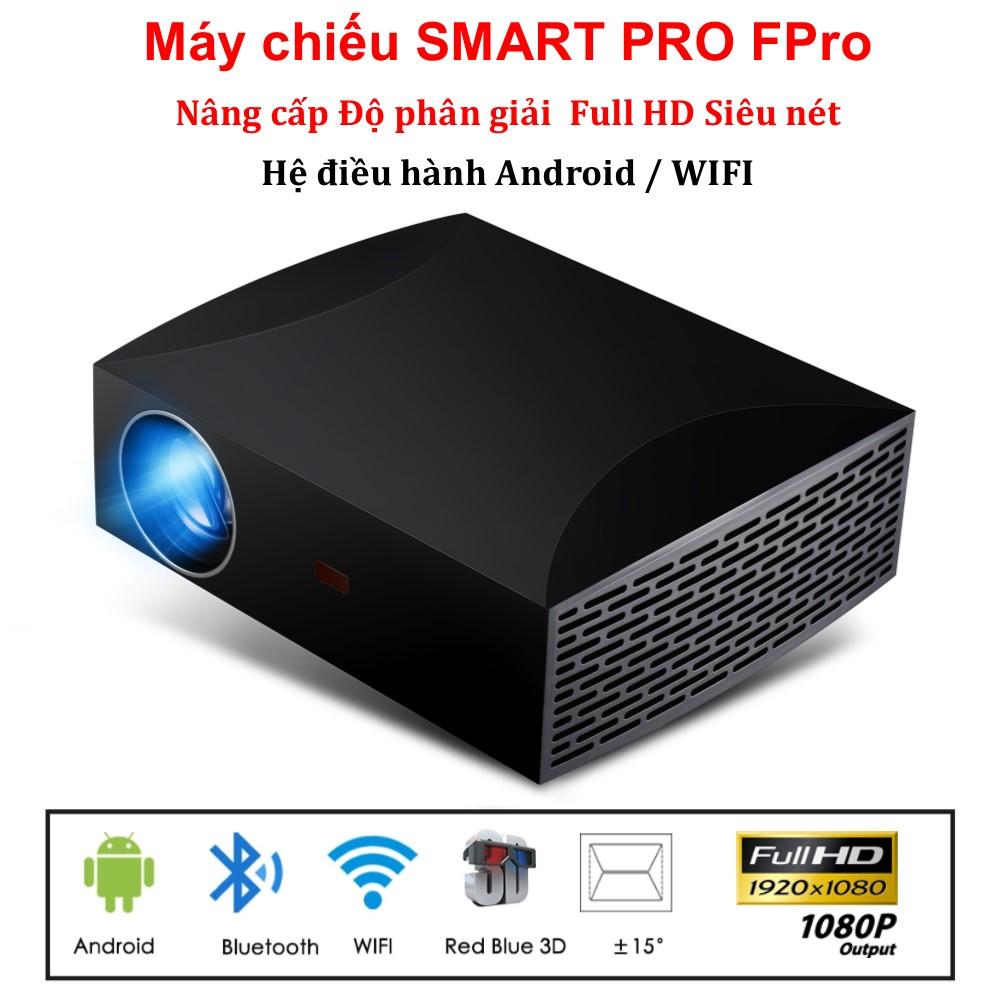 Máy Chiếu Thông Minh Smart Pro FPro Full HD Siêu Nét, Độ Phân Giải 1920 X 1080 Hệ điều Hành Androi / Wifi / Bluetooth Cùng Khuyến Mại Sốc