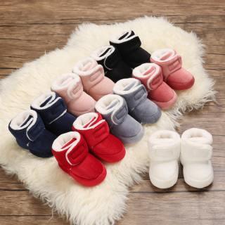 Loveingbaby Miễn Phí Vận Chuyển Bốt Giữ Ấm Bằng Cotton Cho Bé Trai Bé Gái Sơ Sinh Giày Đi Bộ Frist Giày Thể Thao Đế Mềm