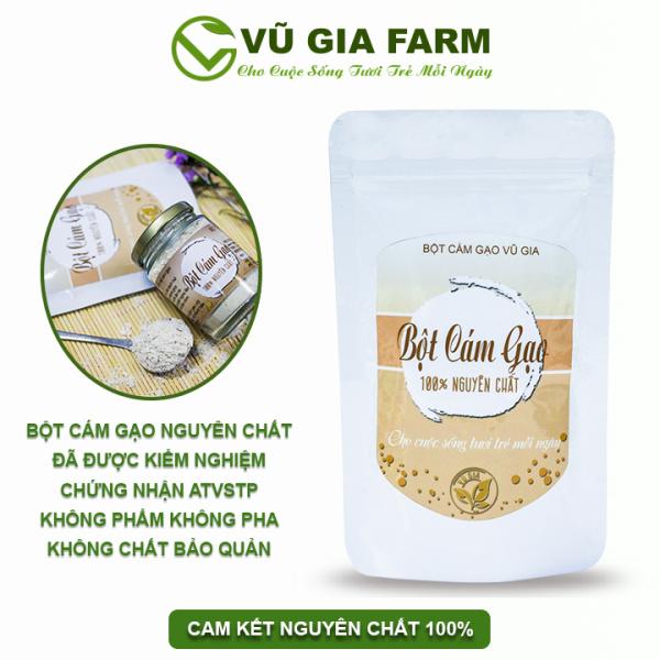 Bột Cám Gạo Nguyên Chất Vũ Gia (100g/túi) - Đắp mặt nạ dưỡng da tắm trắng, cải thiện sắc tố da, tẩy tế bào chết - Đã được kiểm nghiệm y tế nhập khẩu
