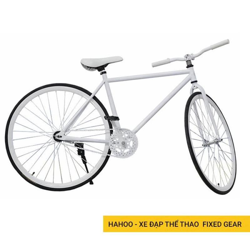 Mua HAHOO Xe đạp thể thao FIXED GEAR - Hai màu trắng đen - Xe đạp sành điệu dành cho người sành điệu