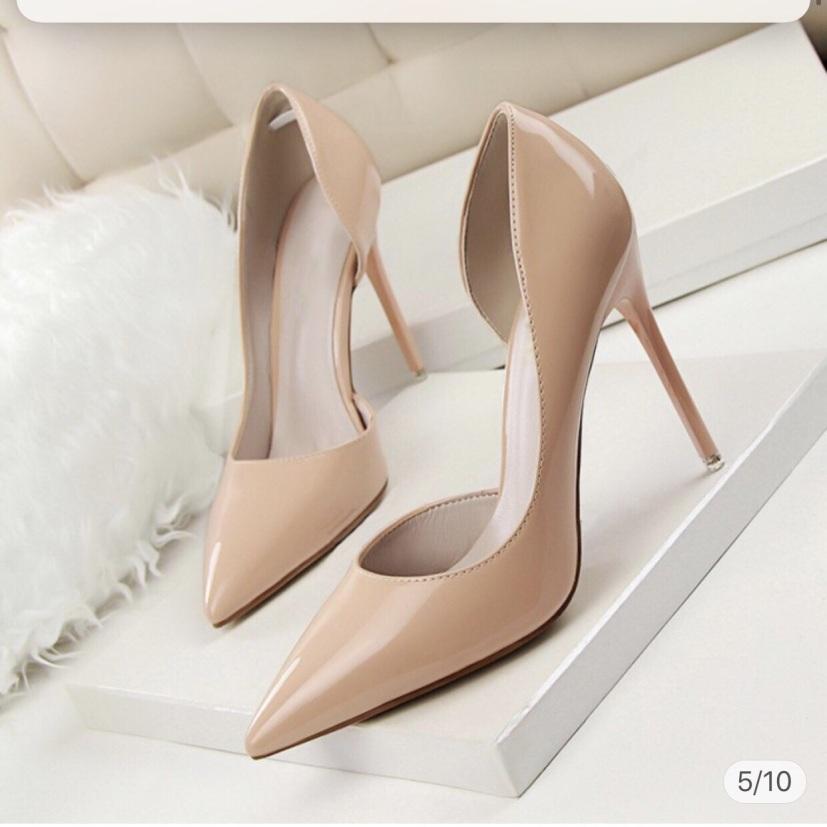 Giày Cao Gót 9P Hở Eo - VNXK Cao Cấp Bao Chất Bao Sang - Full Size 34-40 giá rẻ