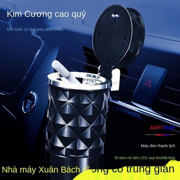 Phụ kiện ô tô ô tô kim cương cắt bề mặt ô tô gạt tàn thuốc lá ô tô với đèn led ô tô gạt tàn