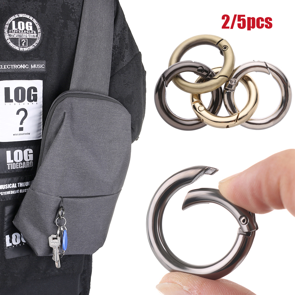 2//5pcs 25//33//35mm Zinc Alloy Plated Gate Spring O-Ring Buckles Snap Clasp Clip