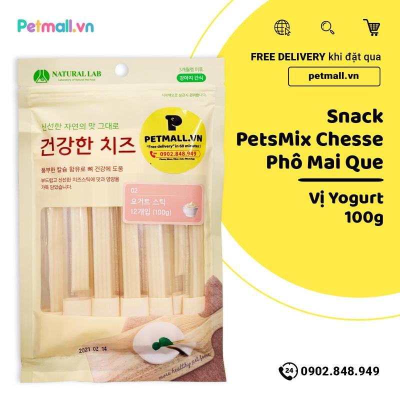 Snack PetsMix Chesse Phô Mai Que 100g - Vị Yogurt