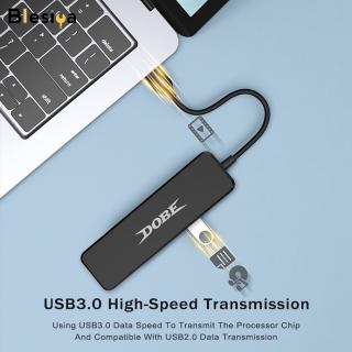 Blesiya Đầu Chia Dữ Liệu Siêu Tốc USB 3.0 4 Cổng Bền Bỉ Cho PS4 Xbox, Siêu Mỏng thumbnail