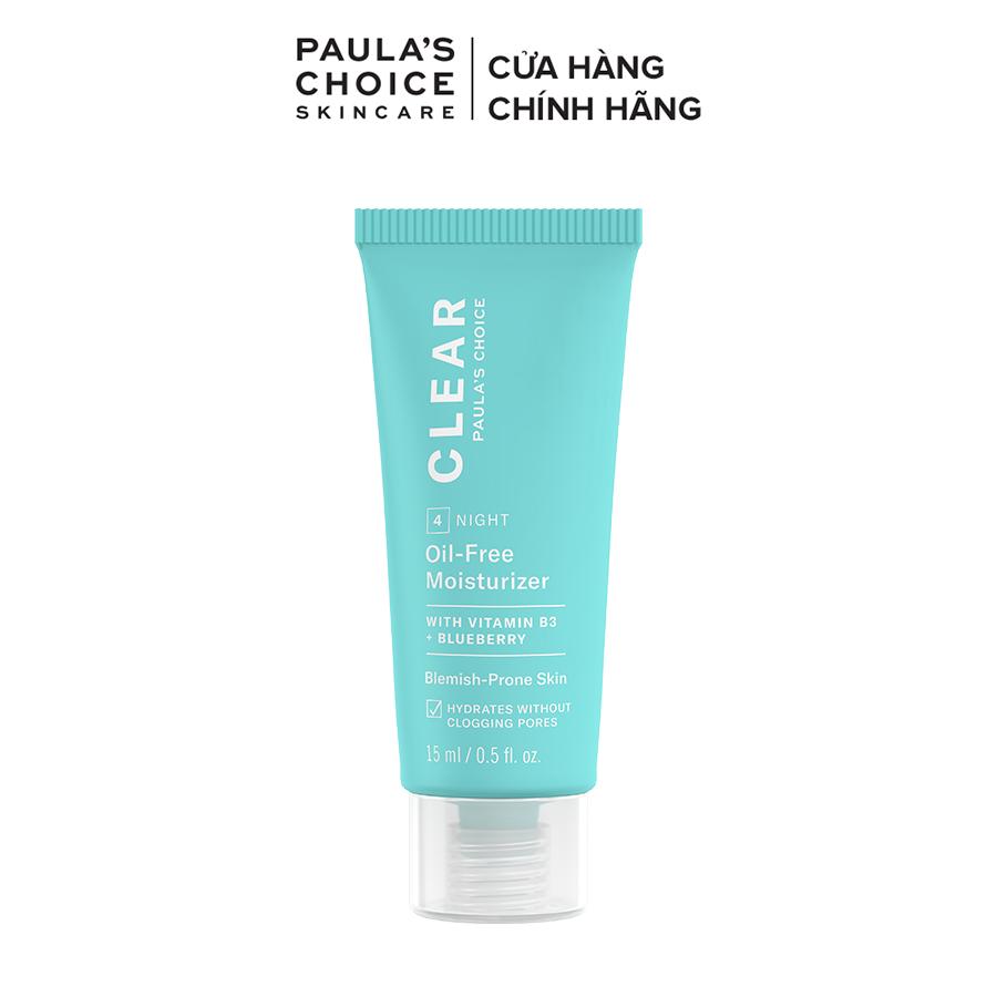 Kem Dưỡng ẩm dịu nhẹ không chứa dầu dành cho da mụn Paula's Choice Clear Oil-Free Moisturizer 15 ml