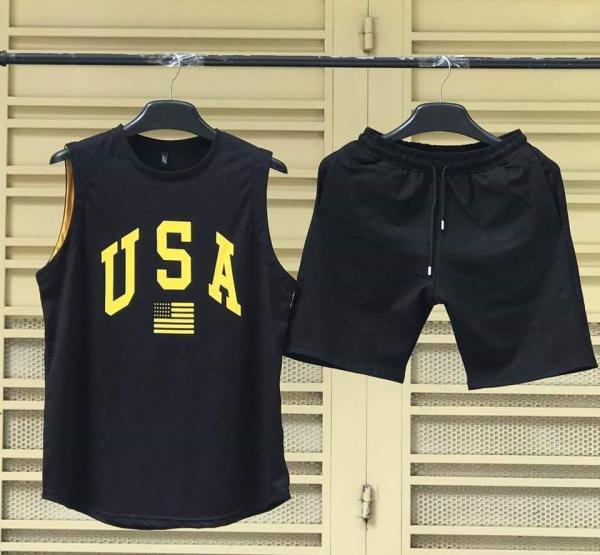XẢ HÀNG GIÁ GỐC - Bộ Đồ Thể Thao BA LỔ Xách Nách USA Nam Vải Thun Lạnh Co Dãn 4 Chiều Cực Chất và Thoáng Khí - FashionClassyShop
