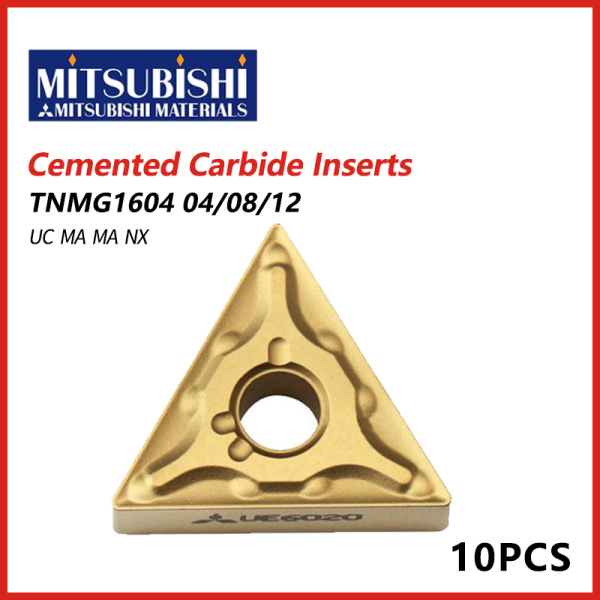 Mitsubishi Cemented Carbide Inserts TNMG1604 04/08/12 UC MA MS NX